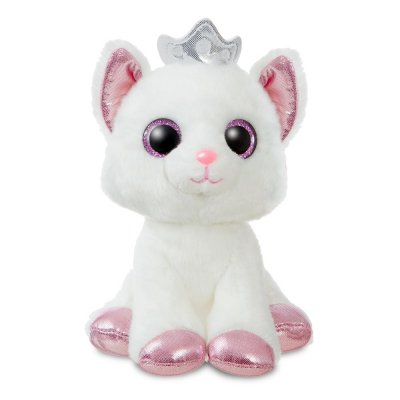 Sparkle Tales Duchess White Cat with Crown 18 cm (4-pack)