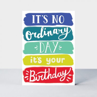 Male Birthday/No Ordinary Day