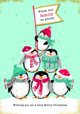 Christmas Piccolo - Our Family To Yours/Penguins (6-pack)